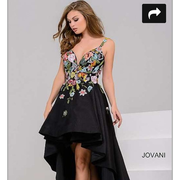 Jovani Dresses Black High Low Prom Dress Worn Once Poshmark